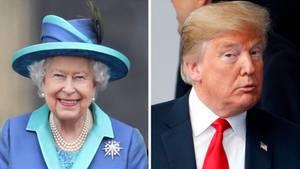 US-Präsident Donald Trump steht ein Treffen mit der Queen bevor.