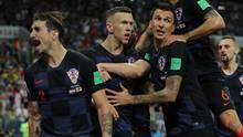 Spieler von Kroatien freuen sich über den zwischenzeitlichen Ausgleich gegen England bei der WM 2018