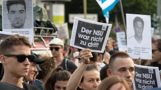 Demonstration nach dem NSU-Prozess