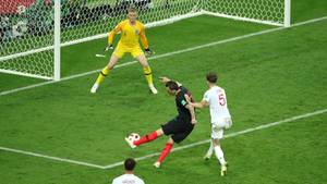 Mario Mandzukic vollstreckt: der Treffer, der Kroatien ins WM-Finale führte