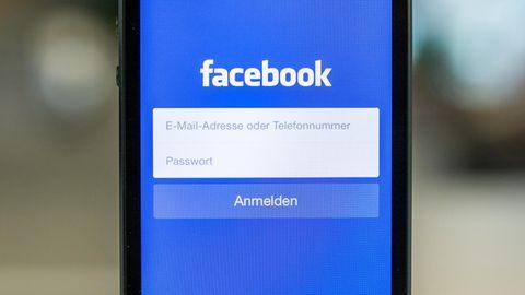 Facebook-Login auf einem Handy