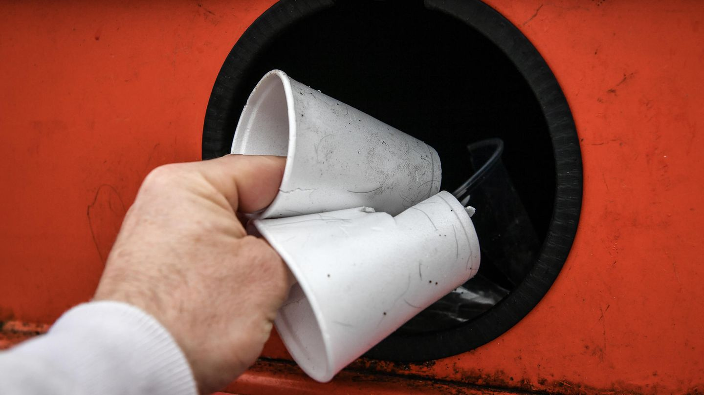 Recycling von Plastik-Müll
