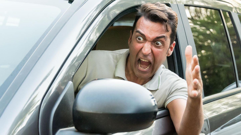 verärgerter Autofahrer