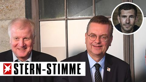 Horst Seehofer (l.) und Reinhard Grindel