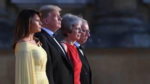 Donald Trump May Großbritannien