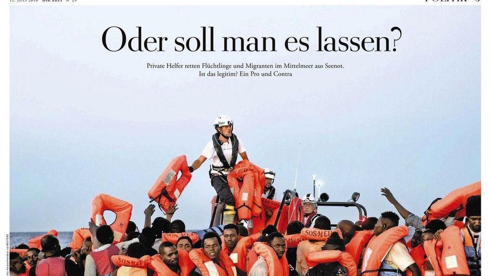 """Die Seite der """"Zeit"""" zu freiwilligen Flüchtlingsrettern"""