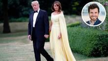 Donald Trump, Präsident der USA, und seine Ehefrau Melania Trump verlassen das Winfield House