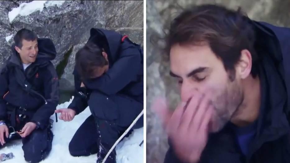 Tennisstar: Roger Federer tritt in Survival-Show auf – und ekelt sich vor nichts