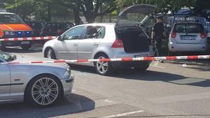 Auf diesem Parkplatz in Hamburg-Steilshoop ist ein 26-Jähriger erschossen worden
