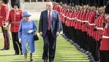 Queen Elizabeth II. und US-Präsident Donald Trump