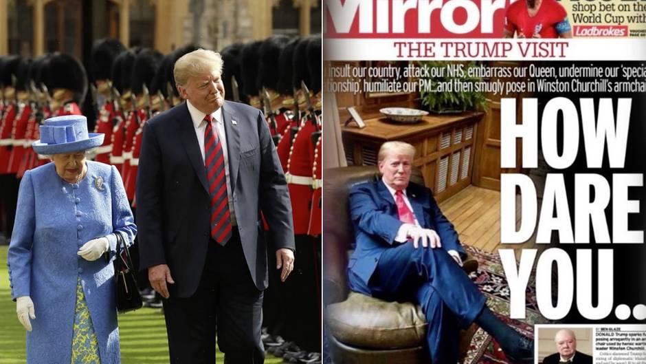 """US-Präsident: Trump-Besuch bei der Queen: Die Briten sind """"not amused"""""""