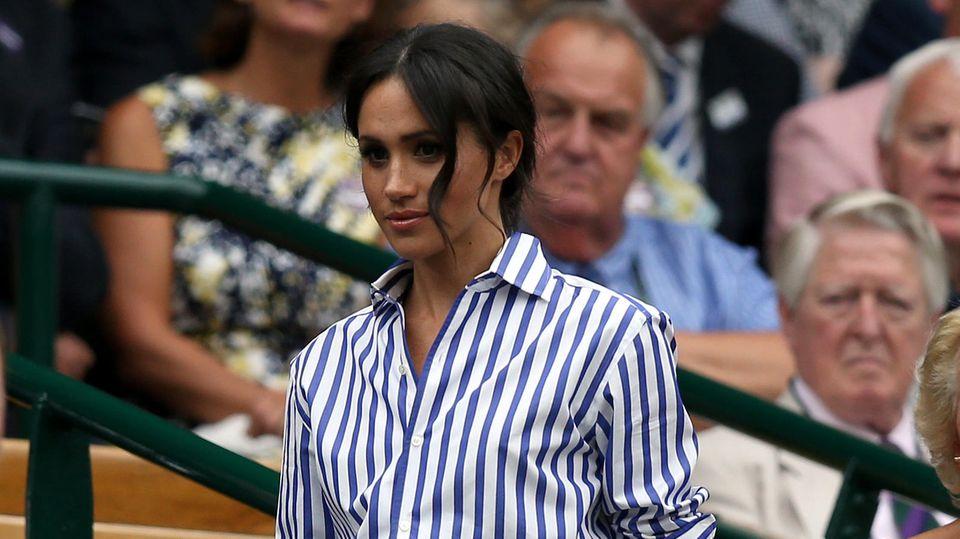 Meghan Markle zeigt sich beim Wimbledon-Tennisturnier auf der Zuschauertribüne