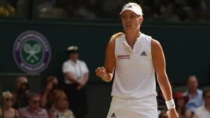 Angelique Kerber beim Tennisturnier in Wimbledon