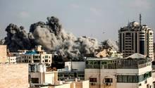 Gaza: Die israelische Luftwaffe zerstörte nach eigenen Angaben ein Hauptquartier eines Hamas-Bataillons