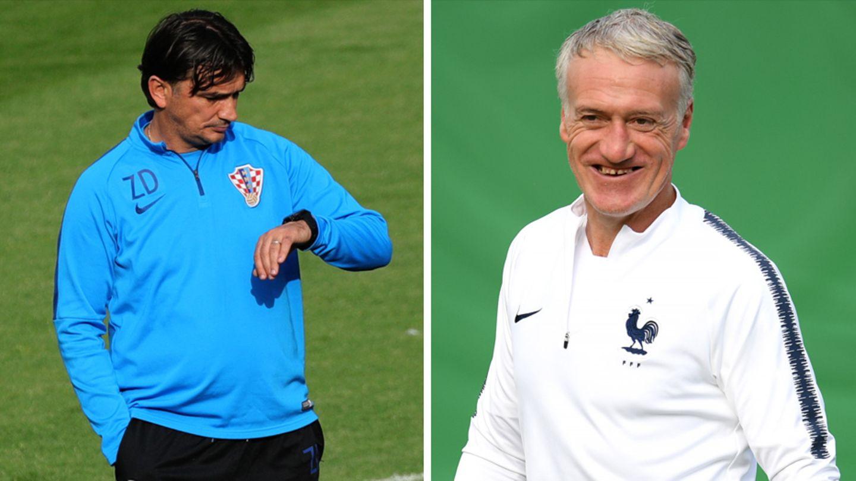 Zlatko Dalic und Didier Deschamps