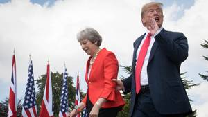 Theresa May und Donald Trump