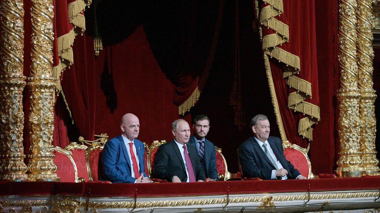 Gianni Infantino, Wladimir Putin und Wladimir Urin