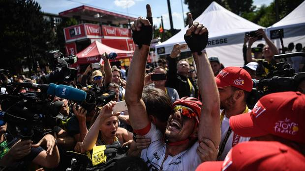 John Degenkolb feiert seinen ersten Tour-Etappensieg