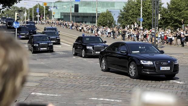 Helsinki Gipfel Putin Limosine