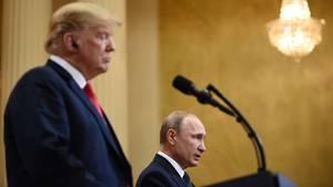 Trump und Putin Abschlusskonfernez