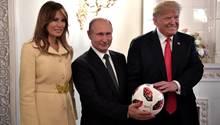 Gipfel in Helsinki: Trump verteidigt sich nach massiver Kritik an Gipfel mit Putin