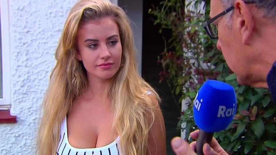 Unmittelbar nach ihrer Rückkehr im Sommer 2017 sprach Chloe Ayling mit Journalisten vor ihrem Haus.
