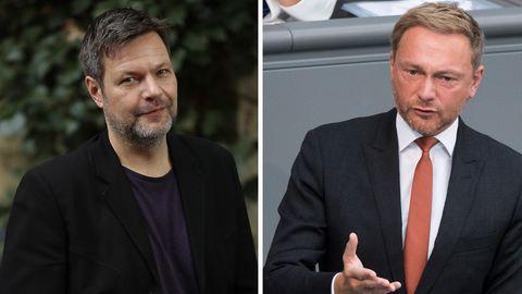 Robert Habeck und Christian Lindner (Combo) streiten über den Fall Sami A.