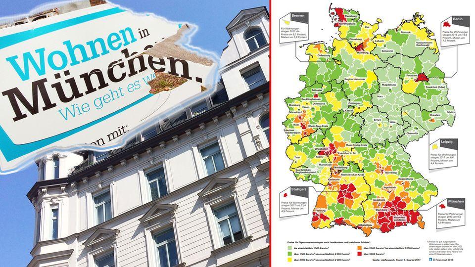 """""""Finanztest"""": Diese Karte zeigt, wo Immobilien noch erschwinglich sind"""