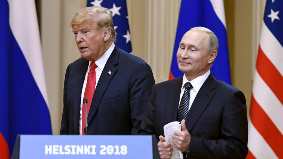 Donald Trump betonte in der Konferenz mit Putin die Notwendigkeit für einen Frieden.