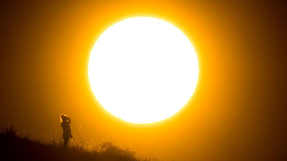 Nicht nur in Deutschland - hier ein Foto aus der Nähe von Hannover - herrscht große Hitze. Auch in Großbritannien ist es ungewöhnlich warm.