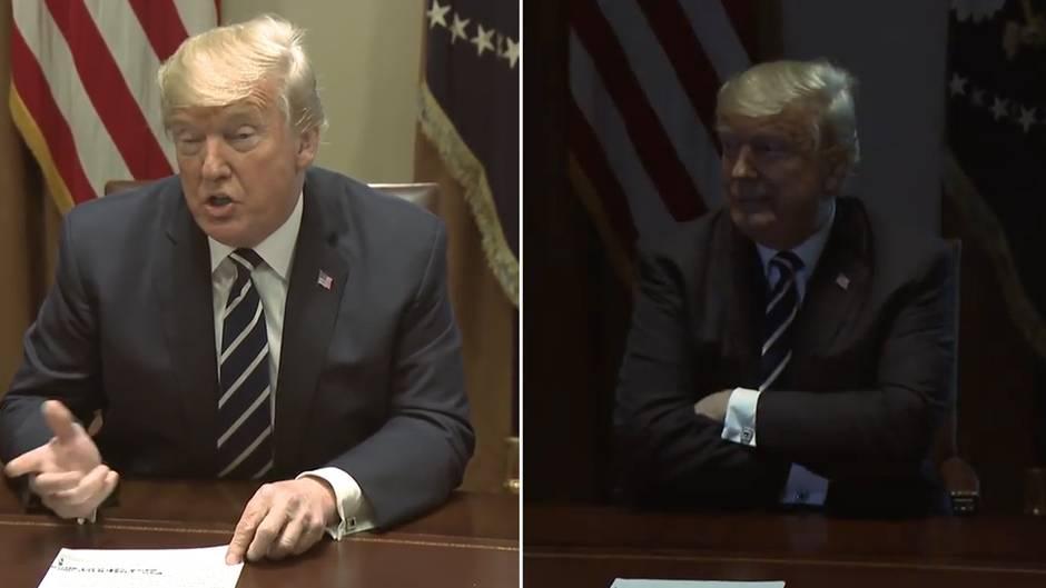 Plötzlich dunkel: Diese kuriose Szene aus dem Weißen Haus sorgt für Spekulationen
