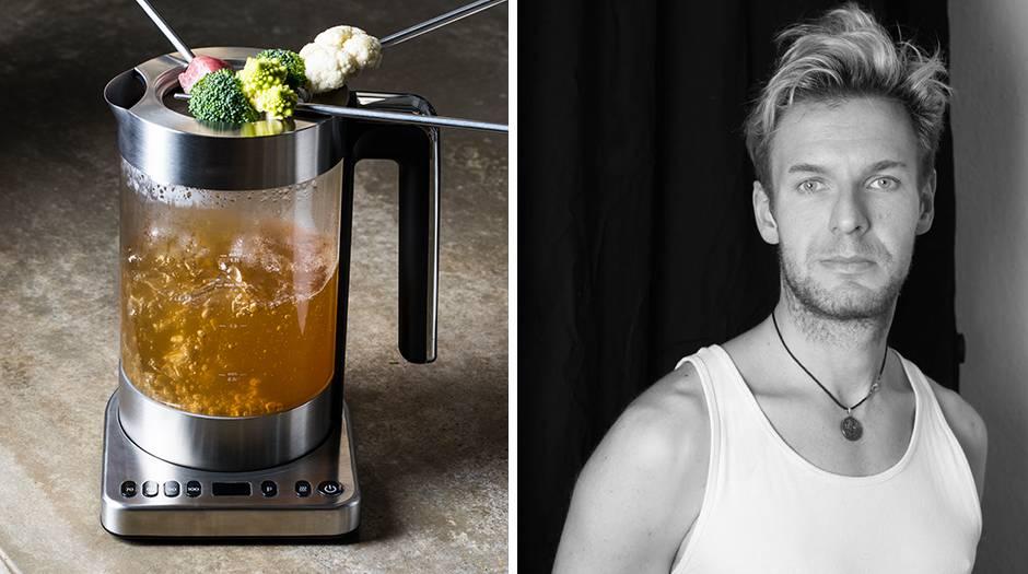 Suppenfondue im Wasserkocher und ein Porträt von Thomas Götz von Aust