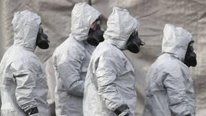 Im britischen Salisbury haben Ermittler in Schutzkleidung und Gasmasken wochenlang nach der Quelle des Giftes gesucht