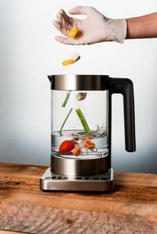 Gemüse im Wasserkocher