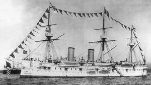 DieDmitrij Donskoj lief1883 in Petersburg vom Stapel und sank im russisch-japanischen Krieg