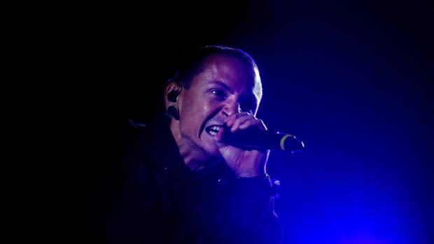 Chester Bennington bei einem Musik-Festival in Lissabon.