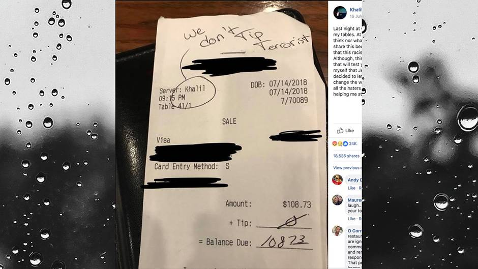 Rassismus: Diese Nachricht stand auf einer Kundenrechnung