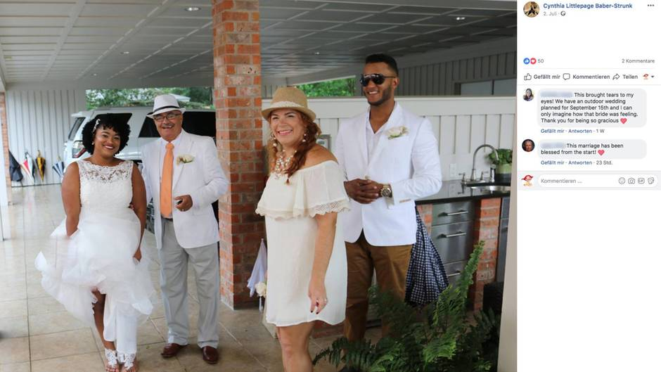 Die Braut kann wieder lächeln – Dank einer Fremden, die ihr für die Hochzeit ihr Haus zur Verfügung stellte