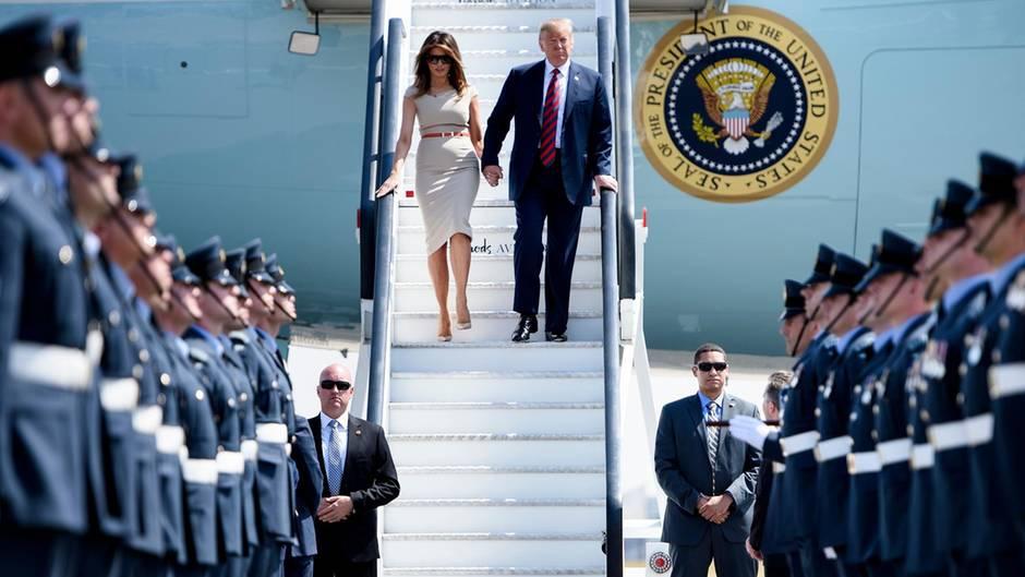 Melania und Donald Trump auf Europa-Reise