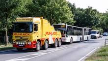 Der betroffene Lübecker Bus wurde inzwischen abtransportiert