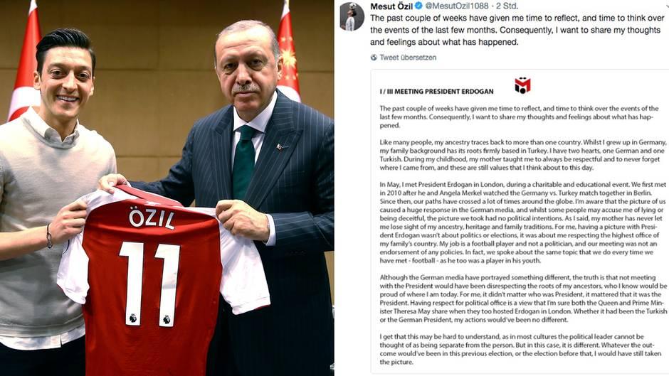 """Statement zum Treffen mit Erdogan: Twitter-User reagieren auf Özils Erklärung: """"Das Özil-Statement hakt an einem gefährlichen Punkt"""""""
