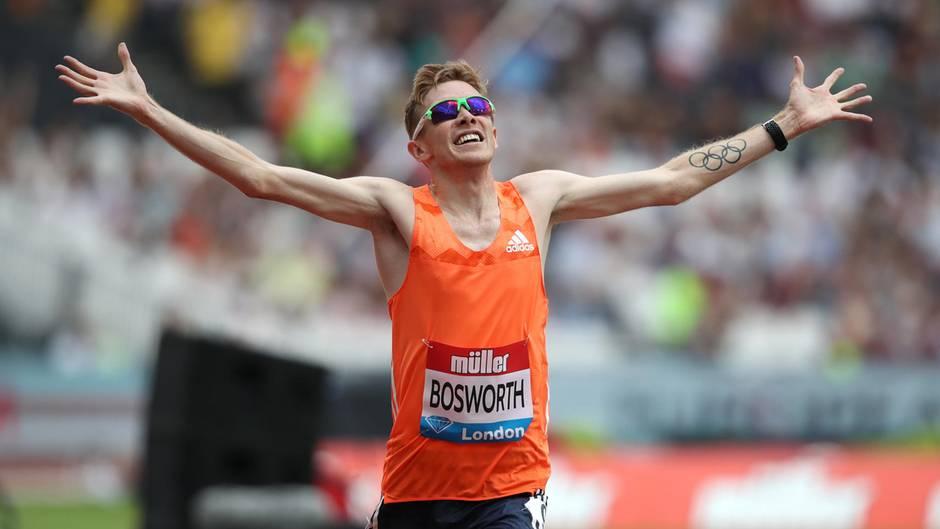 Geher Tom Bosworth bei einem Wettkampf in London
