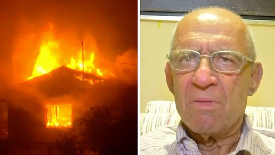 """Mehr als 20 Tote: Augenzeuge der Waldbrände nahe Athen: """"Zum Glück gab es das Meer, dort sind wir hinein gesprungen."""""""