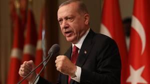 Der türkische Präsident Erdogan lobte Mesut Özil