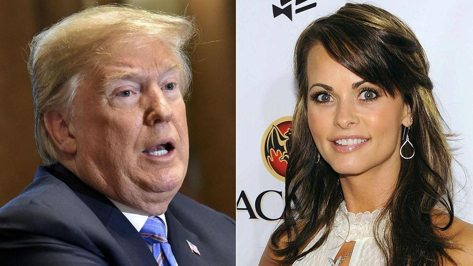 US-Präsident Donald Trump soll - nach Angaben von Karen McDougal - 2006 bis 2007 eine Affäre mit dem Playmate gehabt haben