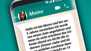 """Kettenbrief von """"Momo"""" auf Whatsapp"""