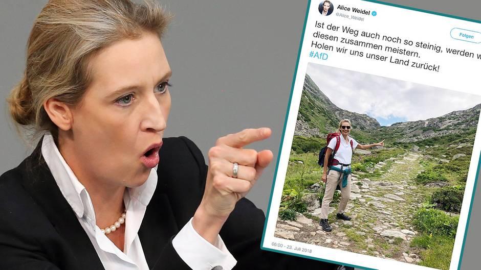 Missglückte Kampfansage im Wanderurlaub: Will Alice Weidel die Schweiz zurückerobern?