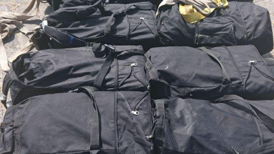 Diese Sporttaschen voll mit Kokain fischte das Zollboot aus der Elbe