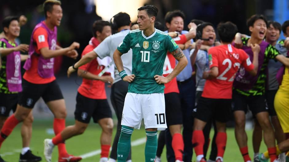 Mesut Özil nach der Niederlage gegen Südkorea