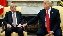 Donald Trump Juncker Treffen